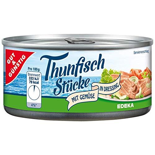 Thunfischstücke mit Gemüse in Dressing G&G im 6er Pack (6 x 185g)