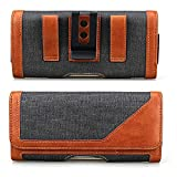 Realtech Belt Holster Leather Case Cover Clip Magnetic Closure for Apple iPhone 6