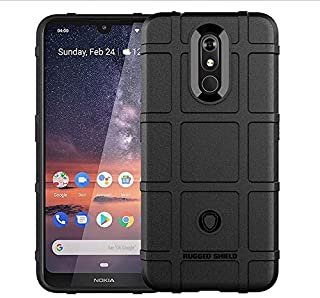 For Nokia 3.2 Mobile Phone Case Military Anti-Fall Silicone All-Inclusive TPU Soft Protective Cover-Black
