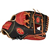 Rawlings Heart of the Hide Baseball Glove, Black/Red/Tan, 11.5 inch, Pro I Web, Right Hand Throw