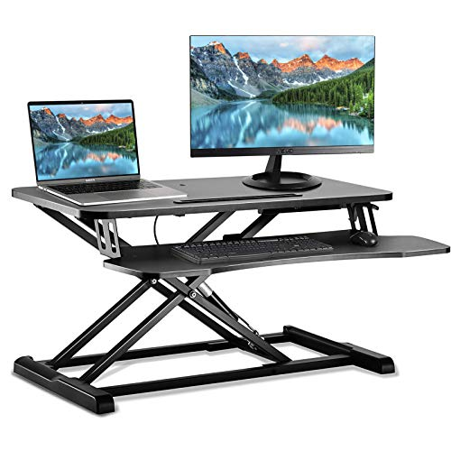 スタンディングデスク 昇降式多機能畳 スタンドアップデスク 折りたたみ無段階座位立位両用オフィスワーク...