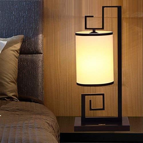 DLL Stehlampe, Inneneinrichtung, Stehende Lesung führte Qwert Neue chinesische Wohnzimmer Schmiedeeisenlampe Kreative Persönlichkeit Leinen Stoffleuchten Schlafzimmer Nachttischlampe