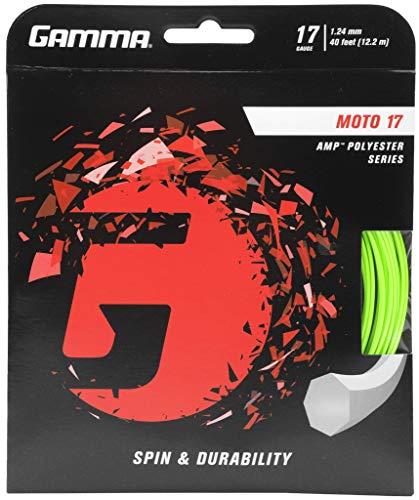 Gamma Tennissaite Moto Set 17 GZMO-12, Grün (Lime) 12.2 m (1.24 mm)