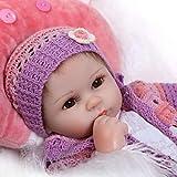 iCradle Bonitas muñecas de 17 pulgadas de auténtica vida Reborn Baby Dolls de silicona suave realista hechas a mano juguete regalo