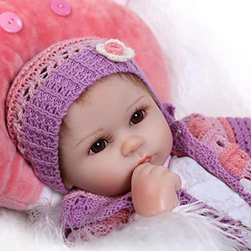 iCradle Schöne 17' Wahres Leben Reborn Baby Dolls Weiches Silikon Lebensechte Puppen Babys Handgemachtes Spielzeug Geschenk Bebe