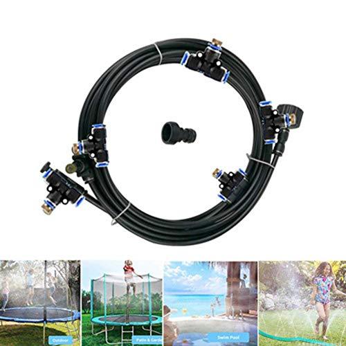 Hete-supply Trampoline Sprinkler Hose, Garden Yard Trampoline Sprinklers Waterpark, Mist Cooling System, Fun Summer Water Game Toys For Kids