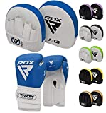 RDX Pattes d'ours Boxe et Gants Enfant Muay Thai Entraînement MMA Incurvé Junior Art Martiaux Pao Bouclier Sac Frappe Sparring Pads Cible Kids Kick Boxing Mitaines