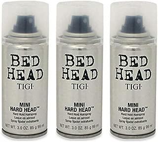 TIGI Bed Head Mini Hard Head Spray, 3 oz (Pack of 3)