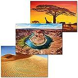 GREAT ART 3er Set XXL Poster Kinder Motive – Desert Landscapes – Horseshoe Bend USA Amerika...