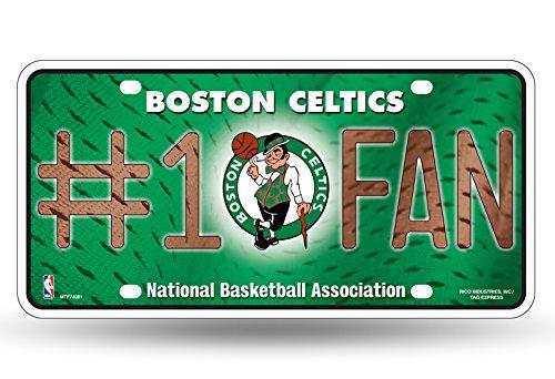 NBA Rico Industries #1 Fan Metal License Plate Tag, Boston Celtics