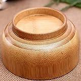 Recipiente para bebés Recipiente de bambú Chino Recipiente Redondo ecológico para alimentación de Especias Recipiente para inmersión