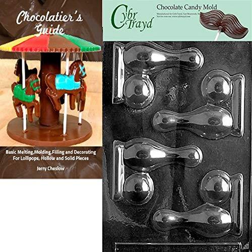 Cybrtrayd Bowling, Sports de balle Moule à chocolat Candy avec Chocolatier Guide d'instructions livre manuel