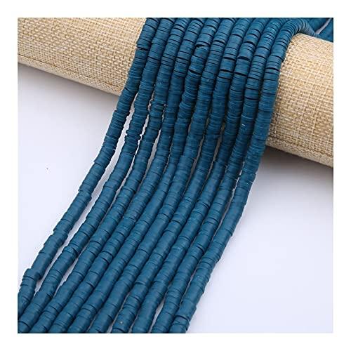 NTZ - Cuentas espaciadoras de arcilla de polímero redondo de 6 mm de color hechas a mano con espaciadores de disco sueltos para joyas, collar y pulsera YC0503 (color: 23)