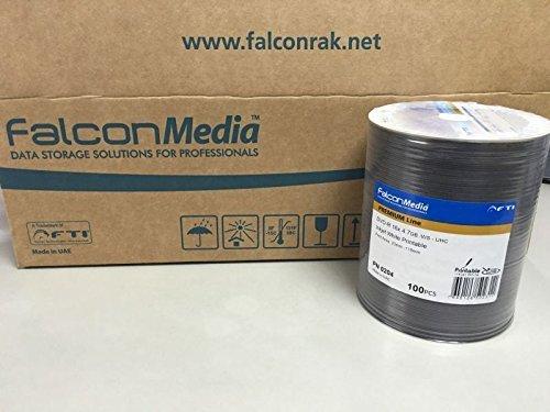 Falcon/ファルコン製プロ用DVD-R インクジェット・ハードコート 100枚