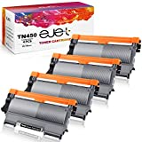 ejet Compatible Toner Cartridge Replacement for Brother TN450 TN420 TN-450 TN-420 for HL-2270DW HL-2280DW HL-2230 HL-2240 MFC-7360N MFC-7860DW DCP-7065DN Intellifax 2840 2940 Printer (4 Black)