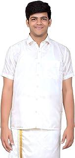 THANGAMAGAN Mens HALFHAND Shirt White Size 36