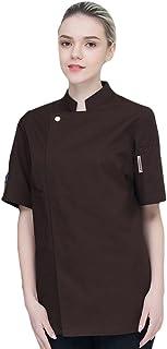 TUDUZ Camisetas Manga Corta Camisas De Algodon Y Lino A Rayas Boton Con Bolsillo Superior Top Ropa De Cuello V Hombre