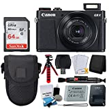 Canon PowerShot G9 X Mark II Digital Camera (Black) + SanDisk 64GB Memory Card + Point & Shoot Case + Flexible Tripod + USB Card Reader + Cleaning Kit + LCD Screen Protectors - Deluxe Accessory Bundle