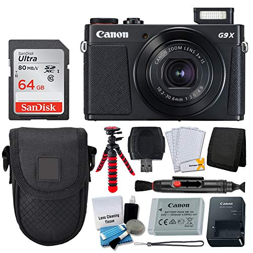Canon PowerShot G9 X Mark II Digital Camera (Black) + Deluxe Accessory Bundle