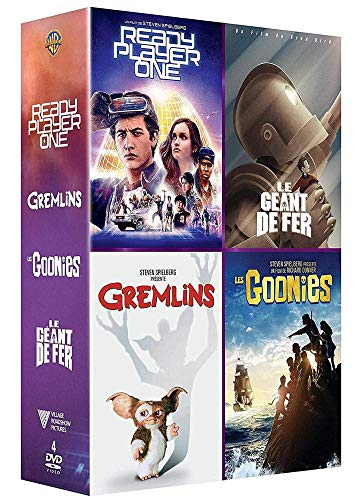 Coffret 4films : ready player one ; les goonies ; gremlins ; le géant de fer [FR Import]