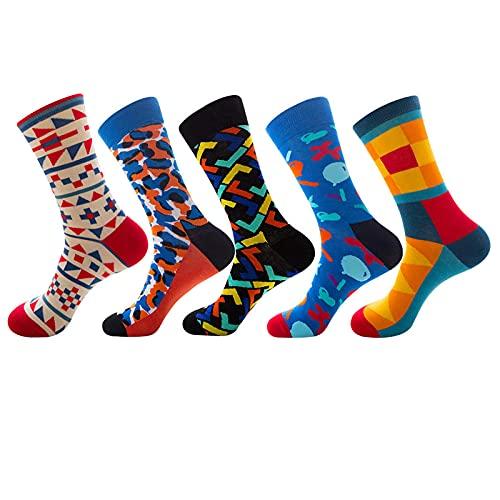 HHSW Calcetines De Compresión Pintura Al Óleo Feliz Van Gogh Calcetines Coloridos Skateboard Algodón Unisex Socks (5 De Paquete)-Af08-20_Tamaño (35-44)