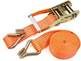 Orrda Ratchet Tie Down Straps | Luggage Carry Cargo Rope Truck Trailer Lorry Car Carry Strap Lashing...