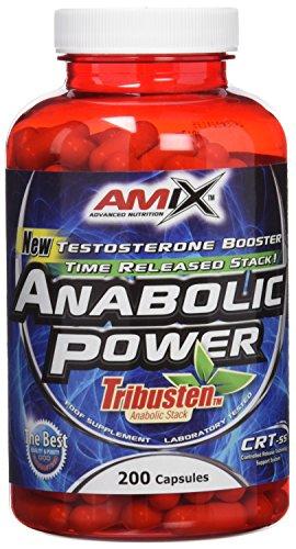 AMIX - Complemento Alimenticio - Anabolic Power Tribusten - 200 Cápsulas - Estimula la Testosterona - Aumenta la Masa Muscular - Complemento Deportivo con Tribulus Terrestris