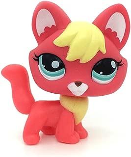ZAD Rare Littlest Pet Shop Firefox Fox Blue Eyes Dog Lps Animal Toy #2642