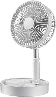 Electric fan Ventilador pequeño de Escritorio Carga USB/Velocidad del Viento de Cuatro velocidades/Control Remoto Temporizador Ventilador Plegable portátil Ventilador de Viaje al Aire Libre