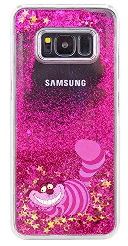 Phone Kandy® Disque Transparent Phone Case Shell Glitter étoiles étincelle avec Cartoon (iPhone X, Cheshire Cat)