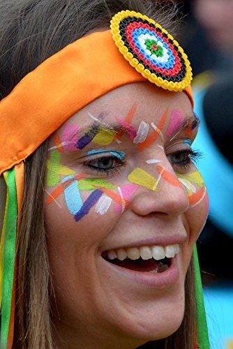 Mosaiz Face Paint kit for Kids, 12 Colors face Paint Crayons, Washable...