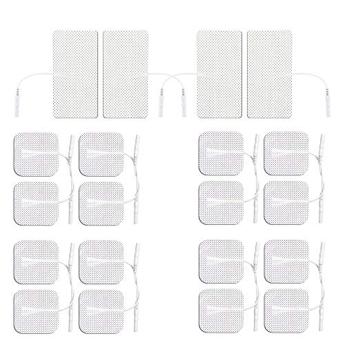 Med-Fit Electrode Pads Combination Pack 16 x 5x5cm and 4 x 5x10cm Self-Adhesive Electrodes with CE Approved Medical Gel Skin Friendly and Non-Irritating