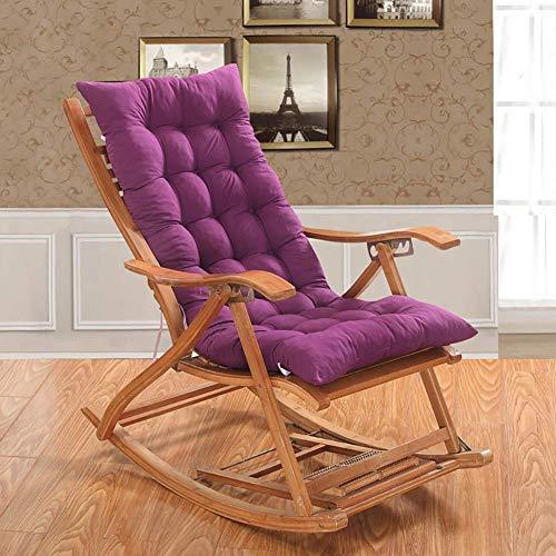 Cojines para sillas de Patio, Respaldo Alto, Antideslizante, Banco Mecedora Plegable con ataduras, Cojines y Almohadillas para sillas mecedoras para Exteriores, para Muebles de Patio, sin si