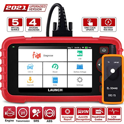LAUNCH CRP129X OBD2 Scanner - 2021 New Scan Tool Car Code Reader for Engine Transmission ABS SRS with Oil/EPB/SAS/TPMS/Throttle Body Reset Automotive Scanner with TPMS Gift, Lifetime Free Update