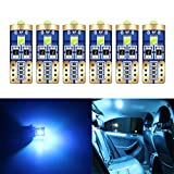 HOLDCY 194 LED Light Bulbs - Super Bright Ice Blue 3030 Chipsets, T10 W5W 168 LED Replacement Bulbs Canbus Error Free - for Car Interior Light,Dome Lamp,Door Marker License Plate Lights (Pack of 6)