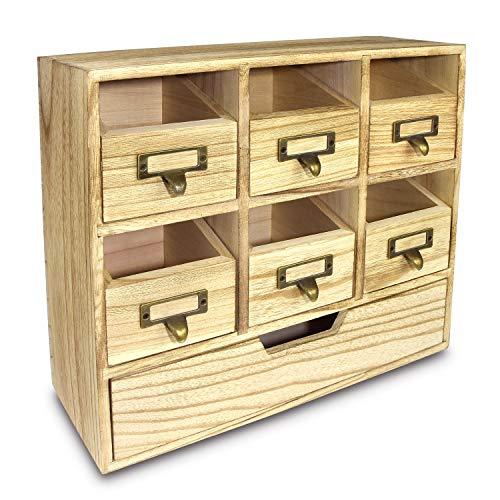 Ikee Design Wooden Desktop Drawers & Craft Supplies Storage Cabinet