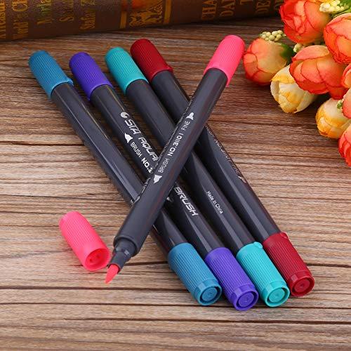 Cikonielf 80 Farben Twin Waschbare Wassermarkierungsstifte Feiner und weicher Pinsel zum Hervorheben von Gemälden