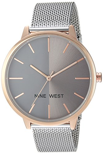 Reloj Nine West Spring Summer 2017 para Mujer 43mm, pulsera de Acero Inoxidable