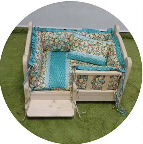 Dierbenodigdhedenhond prinses huis luxe kennel katoen huisdier tent hond speelgoed kamer kat slaapkamer verwijderbare en wasbare kennel kattenbakvulling 135 * 70