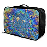 Bolsas de Maleta Colorful Radiation Rainbow Stone Travel Lightweight Waterproof Foldable Storage Portable Luggage Duffle Tote Bag Large Capacity In Trolley Handle Bags Overnight Bag