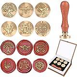 ISASSY Juego de sellos de cera, 6 sellos de cera retro para sellos de cera y sellos de cobre