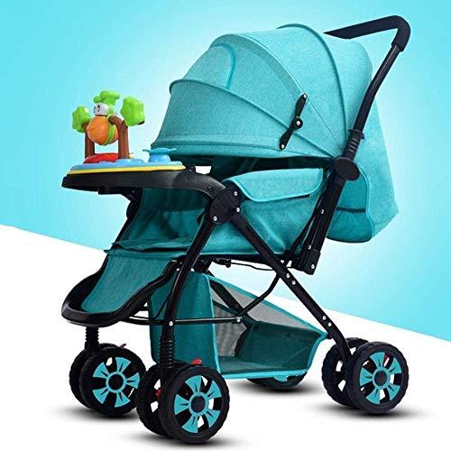 Landaus Poussette Transport, Compact Convertible Poussette Poussette Portable Pram Transport Voyage, Shopping Fournitures pour bébé ( Color : Green )