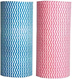 ALISSA Set of 2 Pcs Multi Purpose Cleaning Cloth Rolls (Random Color)