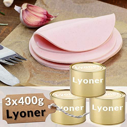 Lyoner 3 x 400g Dosenwurst Fleischwurst Spezialität Vorteilsset Wurst Wurstkonserve Konservenwurst Konserve