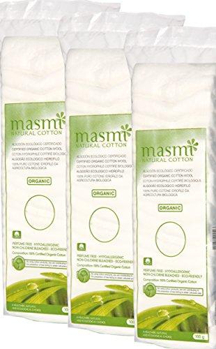 MASMI NATURAL COTTON Bio Watte Zickzack, 3er Pack(3 X 100 G) 78