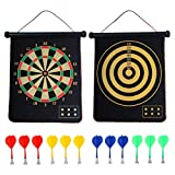 CX L SUM Magnetic Dart Board, Indoor Outdoor Dart Games for Kids with 12pcs Magnetic Darts, Safety Toy Games,...