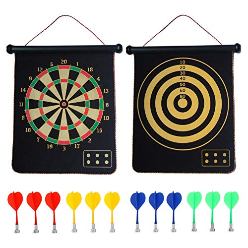 CX L SUM Magnetic Dart Board, Indoor Outdoor Dart Games for Kids with 12pcs Magnetic Darts, Safety...