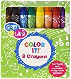 C.R. Gibson Multicolored Washable Crayons for Kids, 8pc
