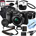 Sony Alpha a6000 Mirrorless Digital Camera with 16-50mm Lens + 32GB Card, Tripod, Case, and More (18pc Bundle) from Sony Intl