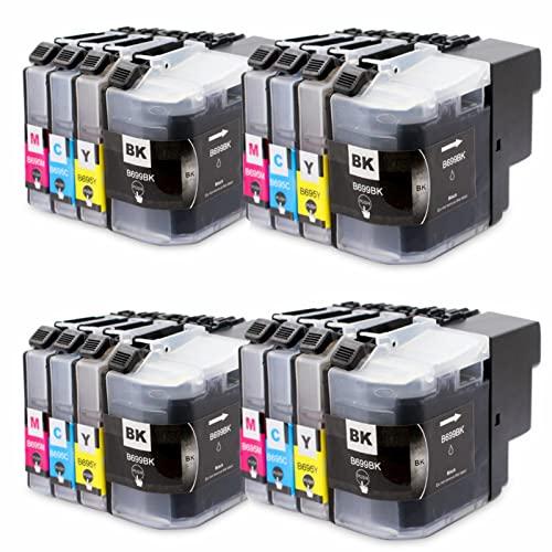 Reemplazo de Cartuchos de Tinta compatibles Adecuado para LC699XLBK LC695XL C M Y, para impresoras de inyección de Tinta Brother MFC-J2320 MFC-2720 Combo Pack